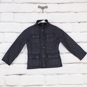 Barbour Kids Jacket Quilted Navy Size 4-5 EUC